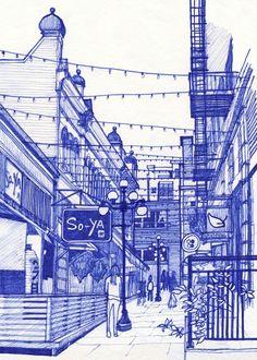 Urban Sketchers: Recent Victoria Sketches