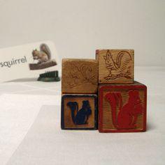 Squirrels 4 Old Alphabet Blocks Wood ABC Toy Blocks by ThreeOldKeys on Etsy https://www.etsy.com/listing/254164379/squirrels-4-old-alphabet-blocks-wood-abc