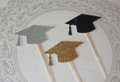 Graduación Cap Cupcake Toppers-2016 Cupcake Toppers-graduación