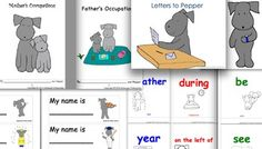 Pepper's back-to-school bundle includes five of her products to get your classroom started on the right paw.  The five products in the bundle can be viewed, or be bought separately, at the following links.Letters to Pepper for year-long assessment records, creative writing activities and in-class tests.Telling Time to learn digital and traditional times.Occupations to introduce occupations and the roles parents take on.Word Wall, Booklets and Flashcard Games to learn just over 100 everyday…