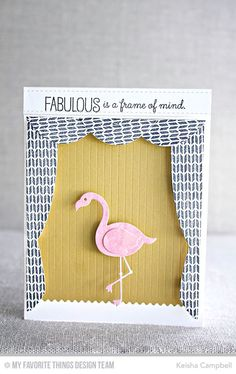 Sweater Stitch Background, Tickled Pink, Flamingo Die-namics, Take the Stage Die-namics - Keisha Campbell #mftstamps