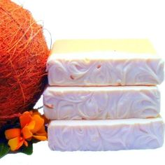 coconut pear handmade cold process olive oil shea by simplysuds, $6.00