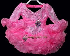 New Girl's Pageant Dress Gowns Ball Gown Mini Short Dresses V Neck Sequins Crystal Pleated Organza Cupcake Toddle Infant Flower Girl Dresses, $72.99   DHgate.com