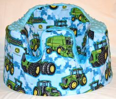 Blue John Deere Baby Seat Cover by SimplyCountryCrafts on Etsy, $25.00