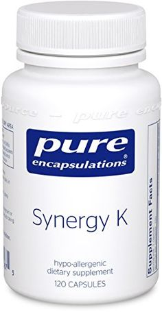 Pure Encapsulations - Synergy K - IMPROVED - Hypoallergenic Formula with Vitamin K1, K2, and D3 for Bone and Arterial Health* - 120 Capsules -- Check out the image by visiting the link.