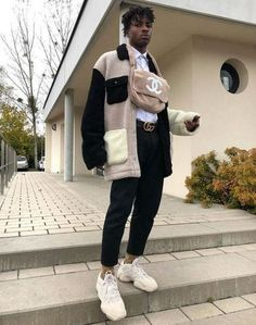 Discover Our Streetwear Chest Bag⬇️ streetwear highsnobiety fashion street styles urban aesthetic outfits men women sneakers hypebeast Fashion Mode, Look Fashion, Urban Fashion, Fashion Outfits, Black Men Street Fashion, Black Men Winter Fashion, Edgy Mens Fashion, Style Masculin, Winter Shirts