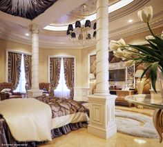 "Luxury ""Master Bedroom"" by Muhammad Taher, via Behance"