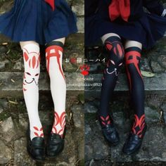 Foxy kitsune socks will have you looking Shinto-chic Cute Fashion, Fashion Shoes, Fashion Beauty, Girl Fashion, Grunge Goth, Visual Kei, Pretty Outfits, Cool Outfits, Style Lolita