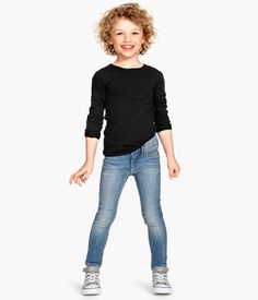 H&M Skinny Fit Jeans $14.95.  I love these jeans on her little skinny butt!