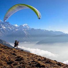 "thanks @rhbredehoft for the #camp4pix submission from Nepal // ""I had an interesting conversation today with some adventurous ladies about the differences in how men and women deal with fear and challenge in outdoors sports.... And it got me thinking about how rare it is in #paragliding to go #flying exclusively with the girls. I shot this photo last year on an overnight hike and fly with @flymisslove in #Nepal. Besides being a #badass pilot and a really fun #adventure partner, Jess is an…"