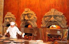 Three pizza ovens named for Italy's volcanoes at #Disney's Via Napoli Restaurant.