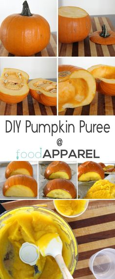 See just how easy it is to roast a pumpkin and make your own pumpkin puree. It will take all of your pumpkiny baked goods up another notch! FoodApparel.com