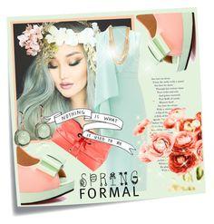 """Spring Formal"" by kari-c ❤ liked on Polyvore featuring Post-It, Cushnie Et Ochs, Pastel Pairs, Kate Spade, PUR, ABS by Allen Schwartz, Goshwara and springformal"