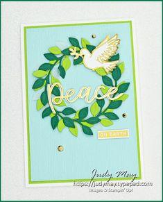 Stampin' Up! Dove of Hope   Joy Dies   Wreath Builder Dies - Judy May, Just Judy Designs, Melbourne