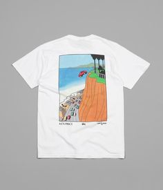 32834a0009 Stussy Car Plunge Pocket T-Shirt - White