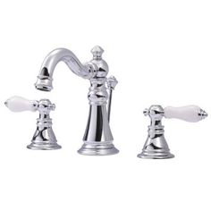 Kingston Brass Classic 8 in. Widespread 2-Handle High Arc Bathroom Faucet in Chrome-HFS1971APL at The Home Depot