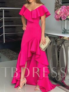 Unique Prom Dresses, hot pink fashion prom dress, There are long prom gowns and knee-length 2020 prom dresses in this collection that create an elegant and glamorous look Tight Prom Dresses, Evening Dresses, Maxi Dresses, Dress Prom, Casual Dresses, Elegant Dresses, Woman Dresses, Prom Gowns, Homecoming Dresses