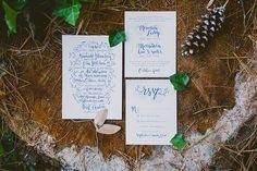 A Mountainside North Carolina Wedding - Invitations