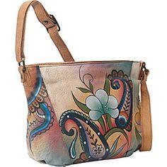 ANNA by Anuschka MEDIUM SHOULDER BAG - Floral Paisley - via eBags.com!