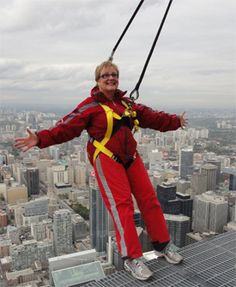 On top and outside the CN Tower-getting over my fear of heights