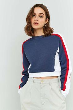 BDG Colour Block Cropped Sweatshirt