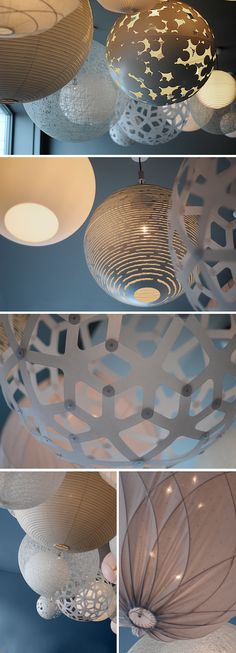 from Trendenser, Sweden - variations on rice paper lanterns