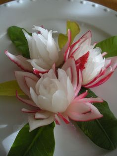 vegetable flowers garnish - Google Search