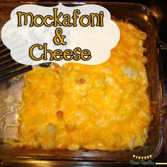 mockafoni & cheese, a low carb alternative to macaroni & cheese. Super easy and delicious recipe!