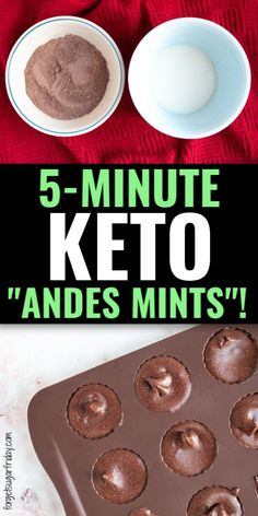 These keto Chocolate Peppermint Fat Bombs will remind you of the yummy, minty, chocolatey flavor of Andes Mints! Ketogenic Desserts, Keto Snacks, Ketogenic Diet, Low Carb Sweets, Low Carb Desserts, Quick Keto Dessert, Keto Chocolate Recipe, Healthy Diet Recipes, Keto Recipes