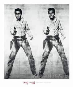 Elvis 2 Times, 1963 by Andy Warhol - art print from King & McGaw Andy Warhol Museum, Andy Warhol Art, Pop Americano, Chelsea Girls, Arte Pop, Cool Posters, Popular Culture, Elvis Presley, Giclee Print