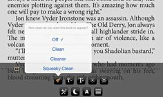 A new e-reader allows users to replace offensive words with more palatable alternatives, with settings ranging from 'clean' to 'squeaky clean'