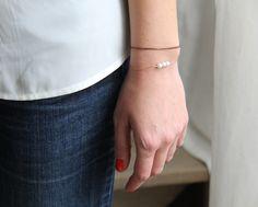 Image of Bracelet perles et chaînes.