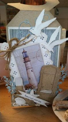 Binding Covers, Book Binding, Marianne Design Cards, Strand, Bookmarks, Gift Wrapping, Scrapbook, Sea, Gifts