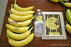 Banana breakfast for staff appreciation