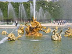 Cancer and the taming of the dragon by kids: Dragon Fountain in  the park of Versailles Palace by Gaspard Marsy erected in 1667. The dragon in the center of the 40 m pool is bedeviled by statues of children mounted upon swans. Astrogeographic position: both coorinates lie in emotional water sign Cancer sign of feritility, childhood, emotional independece identity and authenticity, islands, springs, pools and river beds. field level 4.
