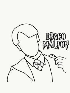 Draco Malfoy Imagines, Harry Potter Draco Malfoy, Harry Potter Diy, Name Coloring Pages, Coloring Books, Harry Ptter, Harry Potter Coloring Pages, Draco Malfoy Aesthetic, Desenhos Harry Potter