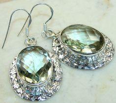 Jewels Jaipur Green Amethyst Sterling Silver Earrings Supplier India