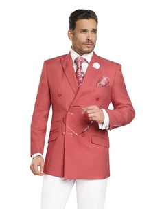 EJ Samuel Double Breasted 2 Piece Men Wedding Suit gingham women blazer jackets new arrival summer spring plaid red s whites tuxedo tux tuxedos party event Red Jacket White Pants Blazers For Men, Wedding Men, Wedding Suits, Sneaker Store, Summer Suits, Double Breasted Blazer, Jacket Style, Stylish Men, Shopping