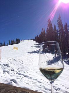 Enjoying wine at Alpino Vino