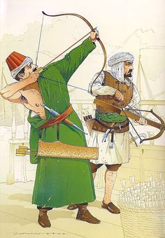 """Arquero y ballestero turcos, Batalla de Lepanto, 7 de octubre de 1571"""
