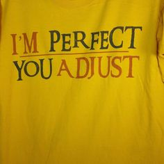 Jansport T Shirt I'm Perfect You Adjust Size Medium Funny Graphic Tee Unisex #JanSport #GraphicTee