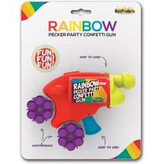Rainbow Pecker Party Confetti Gun Toys Online, Best Vibrators, Toys Shop, Toy Store, Spice Things Up, Confetti, Holiday Gifts, Guns, Rainbow