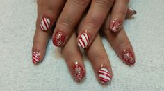 Snowflakes and candy canes