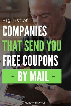 These companies and manufacturers will mail you free coupons to your house. Here's how and where to request your coupons. Wondering how to get free coupons by mail? These companies & manufacturers will mail high-value coupons to your house by request. Free Coupons By Mail, Free Samples By Mail, Digital Coupons, Free Stuff By Mail, Get Free Stuff, Free Mail, How To Start Couponing, Couponing For Beginners, Extreme Couponing