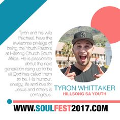 SOUL FEST 2017  Guest Speaker @tyronwhittaker @hillsongsafrica @hillsongctyouth Super Early Bird Price Ends 01 NOV 🎈 SIGN UP www.soulfest2017.com #SoulFest2017NextGen