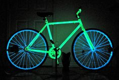 I love this idea, great way to see cyclist at night time...Make Your Night Bike Glow in the Dark with Phosphorescent Paint « Bicycle