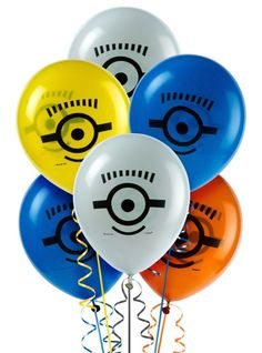 Despicable Me Balloons 8ct - Party City