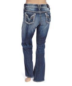 Look at this #zulilyfind! Dark Wash Studded Chelsea Bootcut Jeans - Plus #zulilyfinds