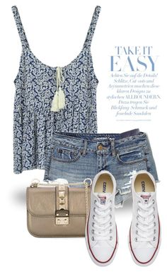 """""""Summer 1961"""" by boxthoughts ❤ liked on Polyvore featuring American Eagle Outfitters, Valentino and Converse"""