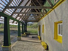 Samuel Mockbee, Rural Studio, Auburn University, architecture, modern, color, green, yellow